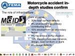motorcycle accident in depth studies confirm
