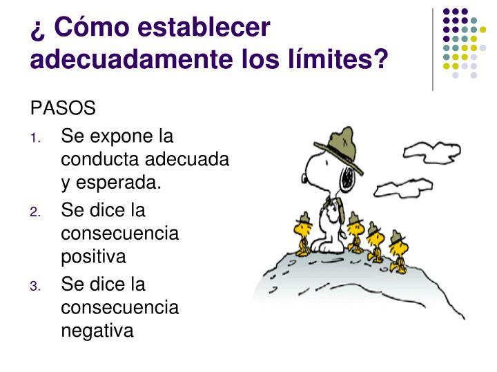 ¿ Cómo establecer adecuadamente los límites?