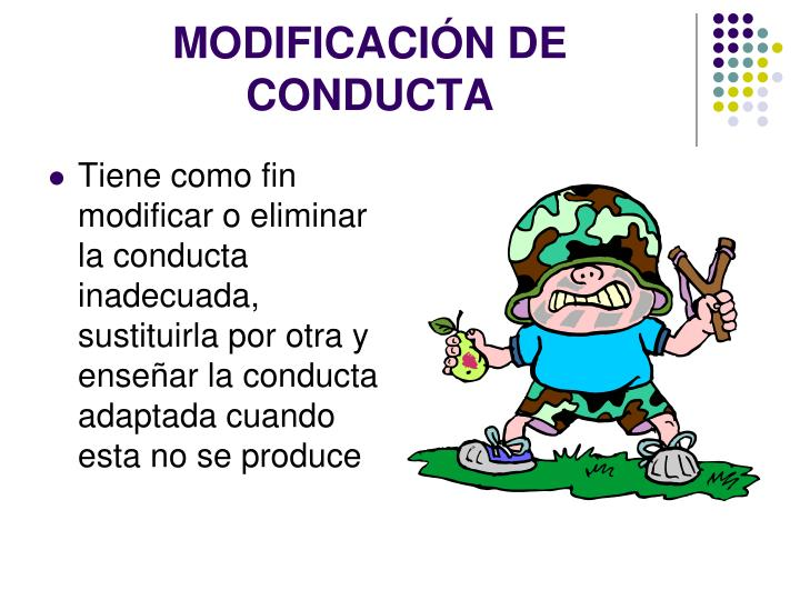 Modificaci n de conducta