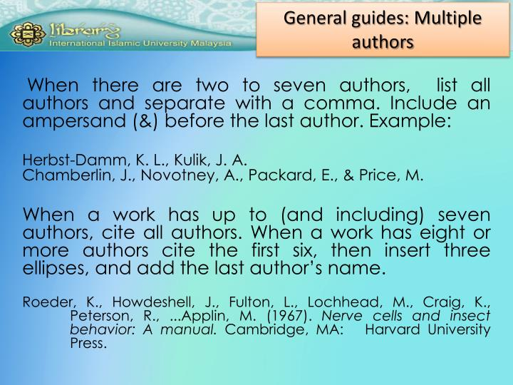 General guides: Multiple authors