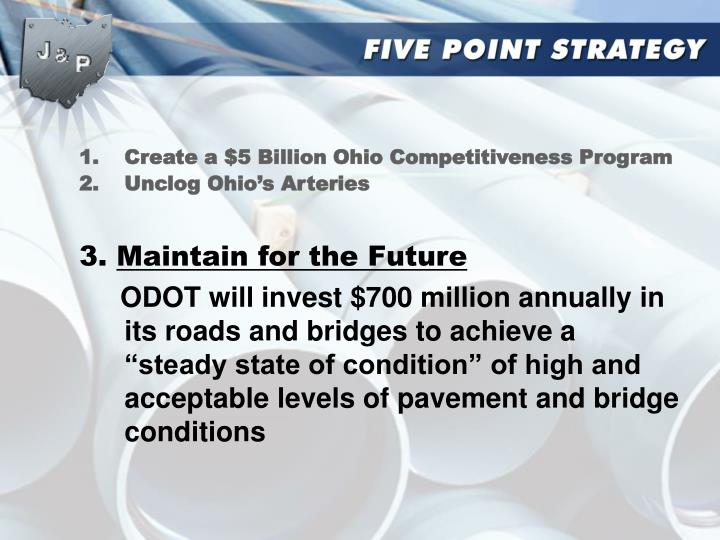 Create a $5 Billion Ohio Competitiveness Program
