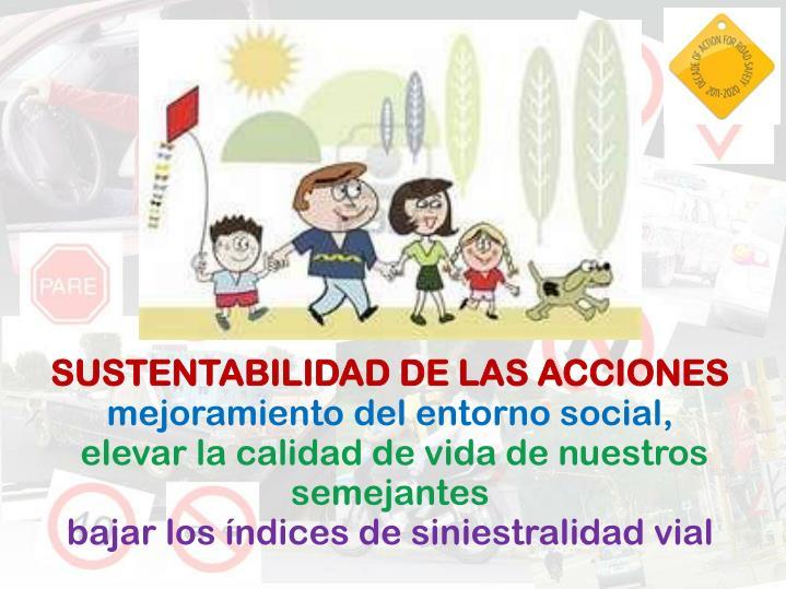 SUSTENTABILIDAD DE LAS ACCIONES