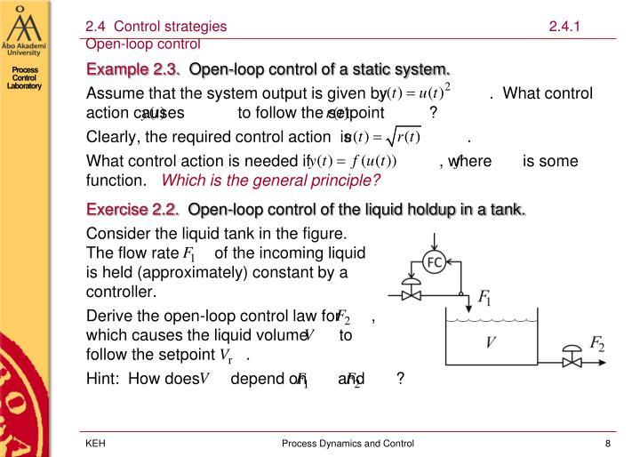 2.4  Control strategies                                                                                2.4.1 Open-loop control