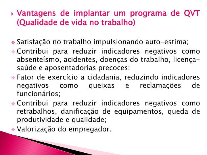 Vantagens de implantar um programa de QVT (Qualidade de vida no trabalho)