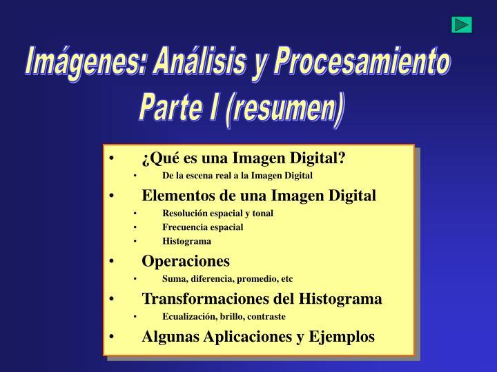 Imágenes: Análisis y Procesamiento