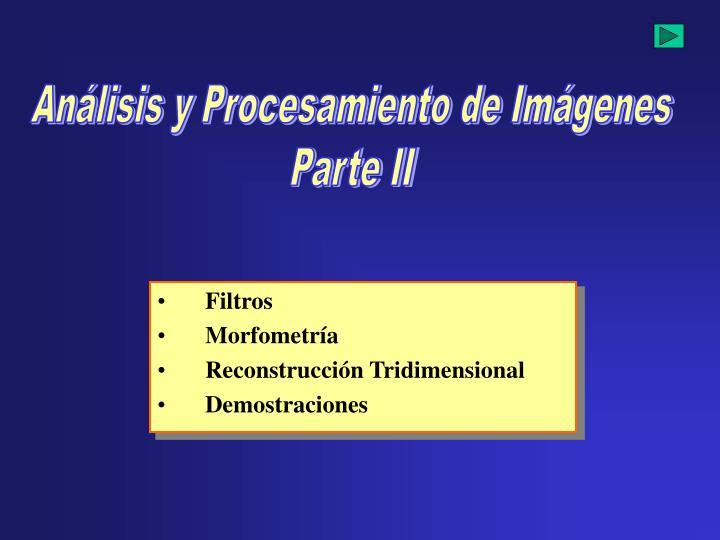 Análisis y Procesamiento de Imágenes