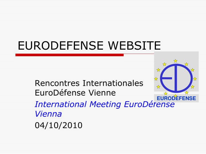eurodefense website