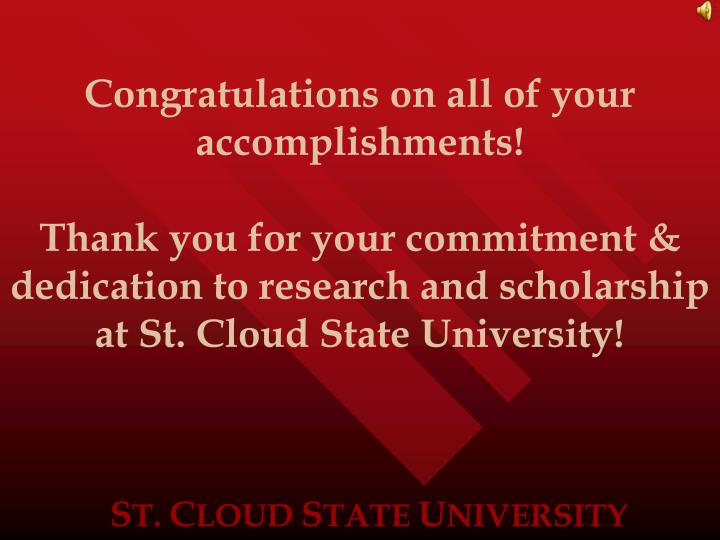 Congratulations on all of your accomplishments!
