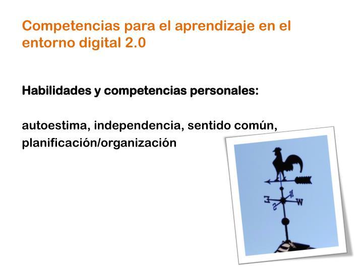 Competencias para el aprendizaje en el entorno digital 2.0