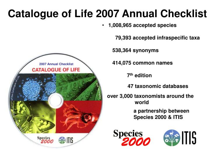 Catalogue of Life 2007 Annual Checklist