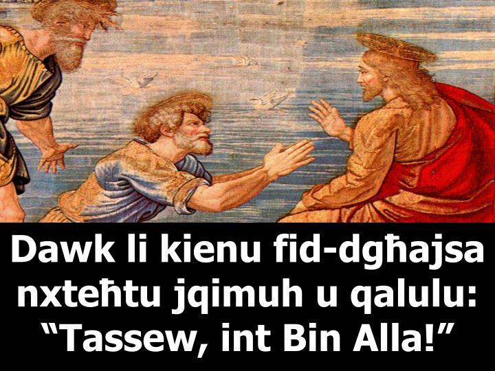 Dawk li kienu fid-dgħajsa