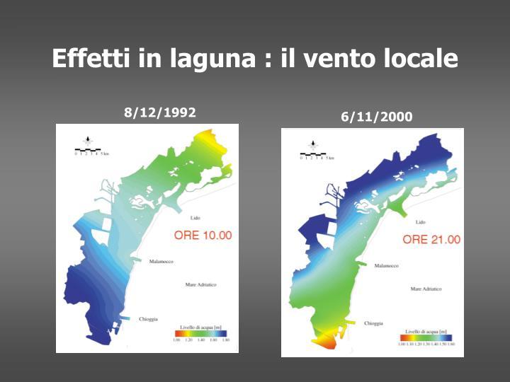 Effetti in laguna : il vento locale