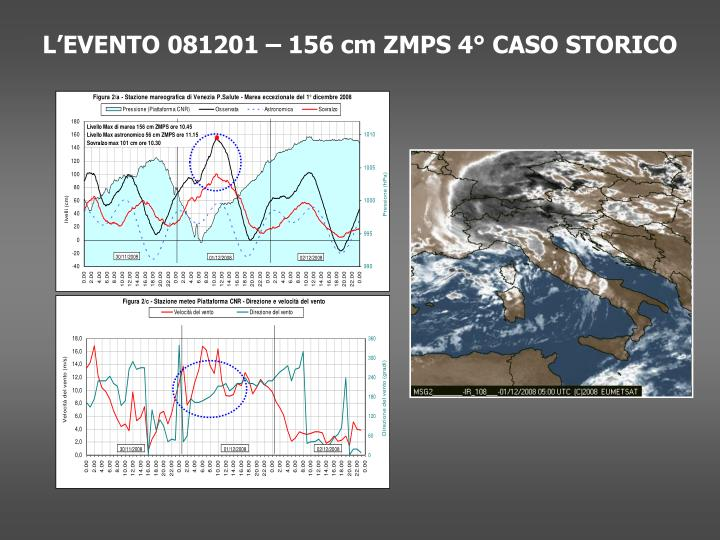 L'EVENTO 081201 – 156 cm ZMPS 4° CASO STORICO
