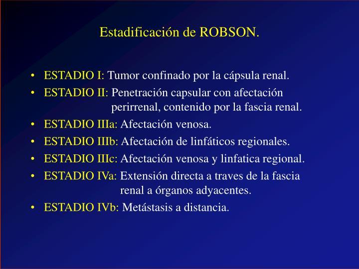 Estadificación de ROBSON.