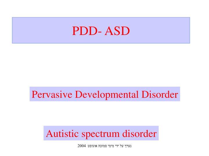 PDD- ASD