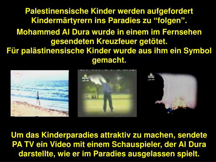Palestinensische Kinder werden aufgefordert