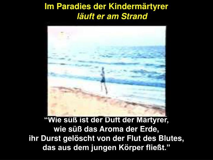 Im Paradies der Kindermärtyrer