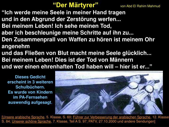 """Der Märtyrer"""