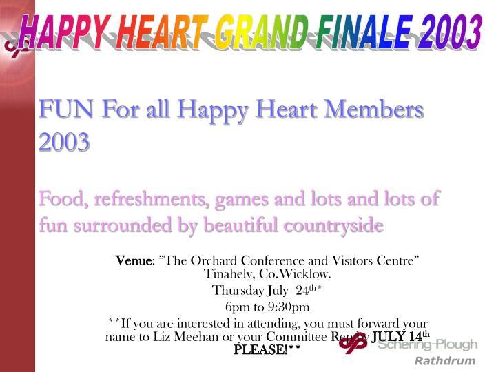 HAPPY HEART GRAND FINALE 2003