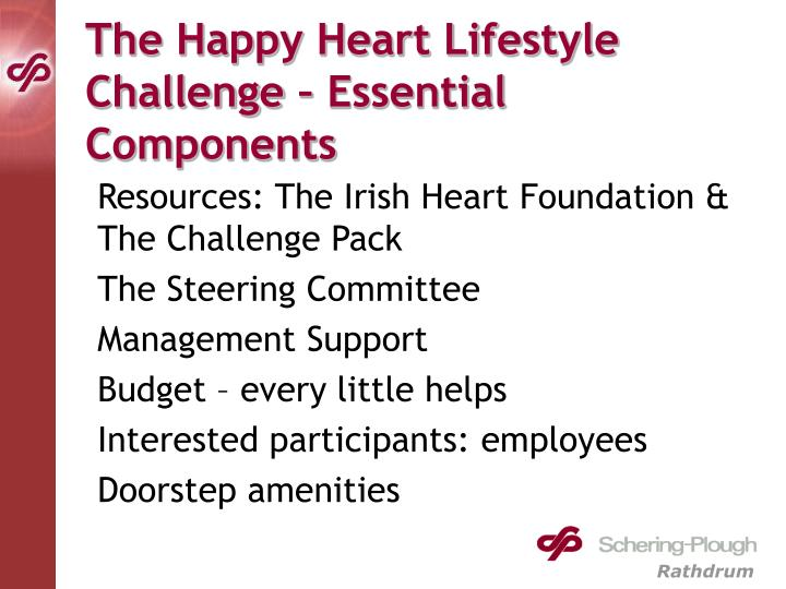 The Happy Heart Lifestyle Challenge – Essential Components