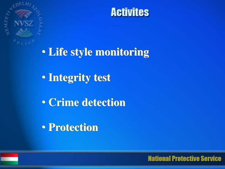 Life style monitoring
