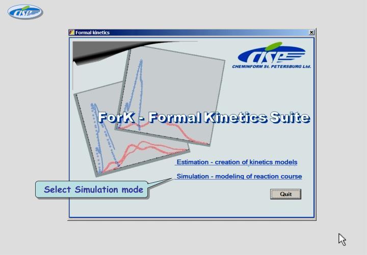 Select Simulation mode