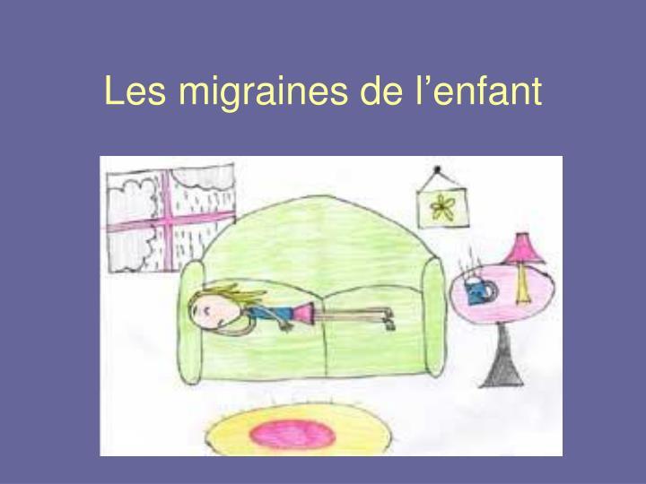 Les migraines de l'enfant