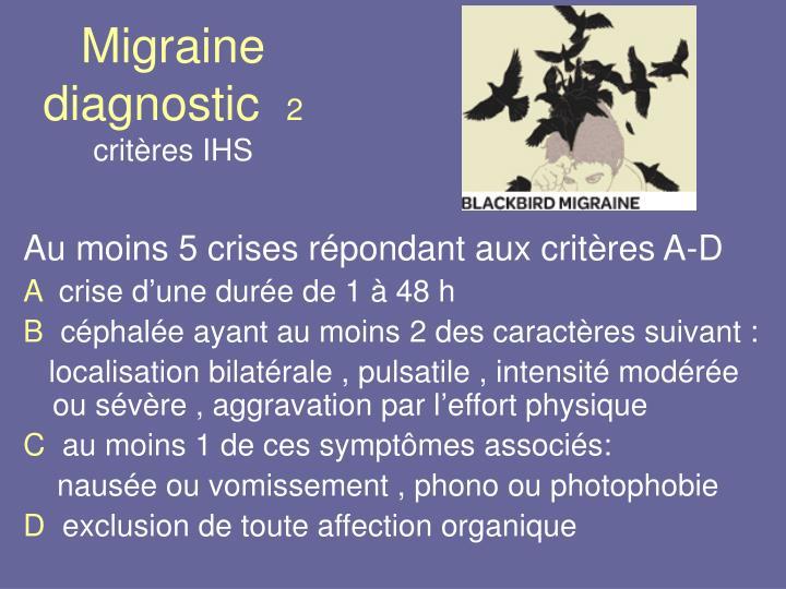 Migraine diagnostic