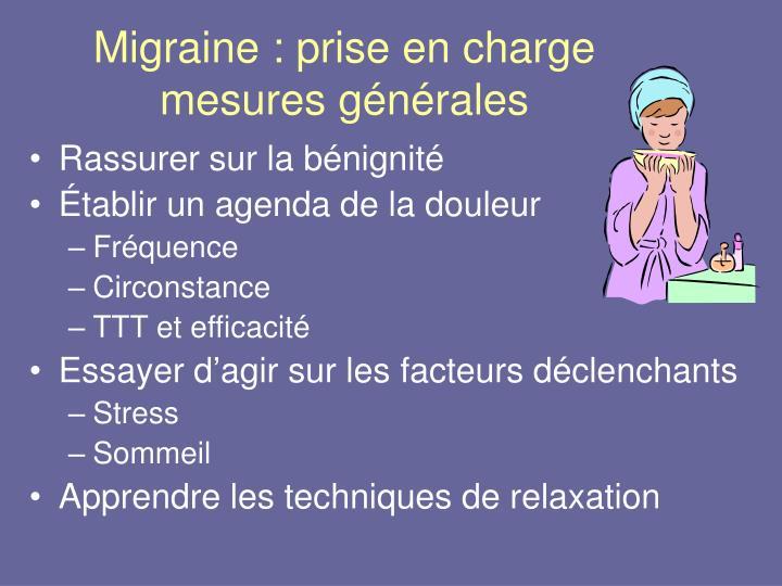 Migraine : prise en charge