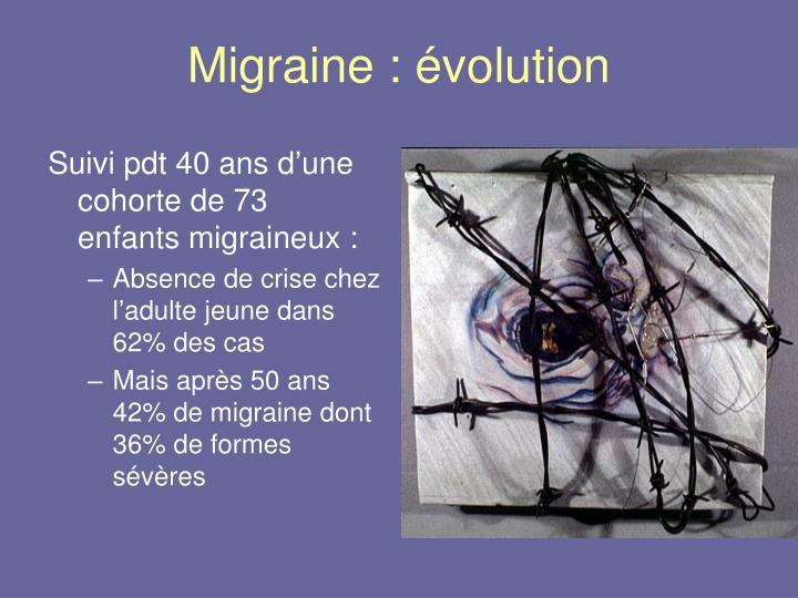 Migraine : évolution