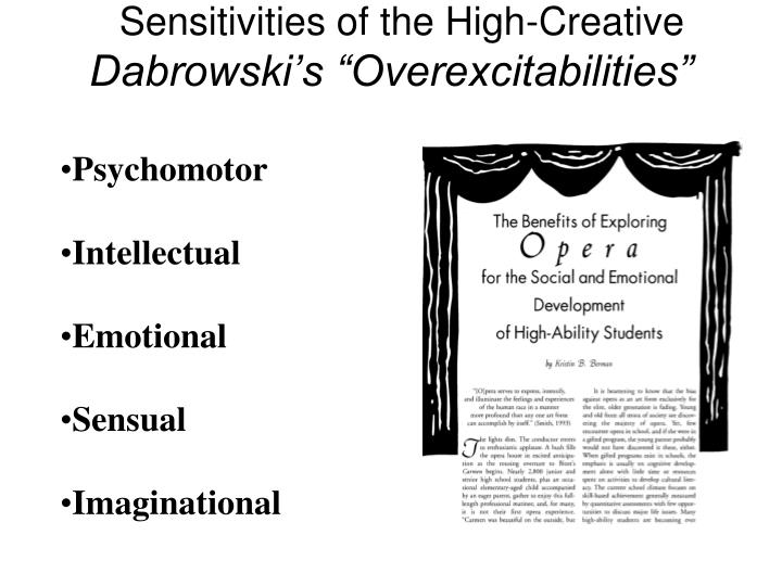 Sensitivities of the High-Creative
