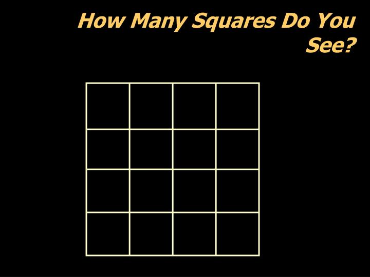 How Many Squares Do You See?