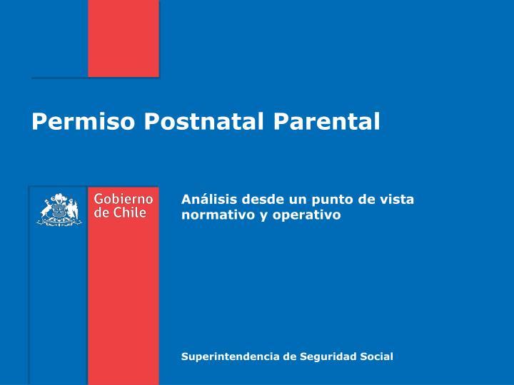 Permiso Postnatal Parental