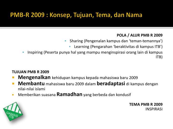 PMB-R 2009 :