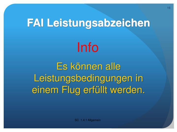 FAI Leistungsabzeichen
