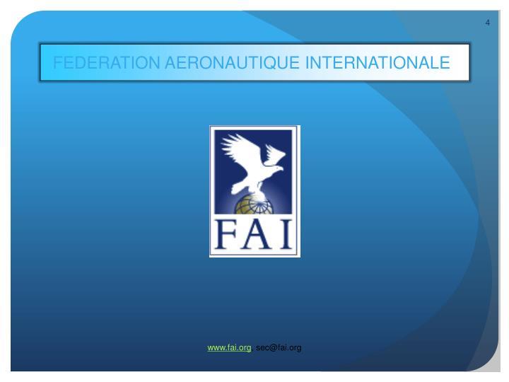 FEDERATION AERONAUTIQUE INTERNATIONALE