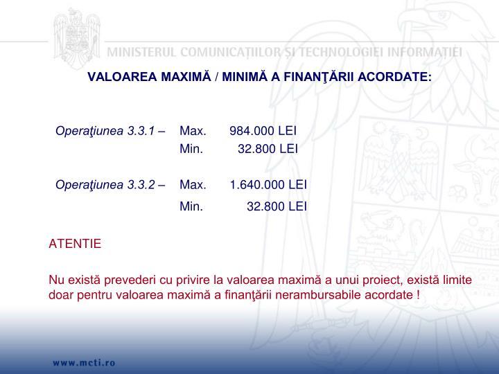 VALOAREA MAXIMĂ