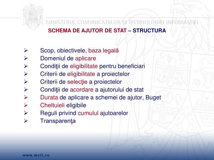 SCHEMA DE AJUTOR DE STAT