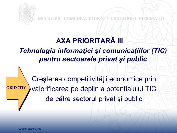 AXA PRIORITARĂ III