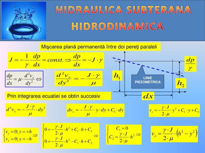 HIDRAULICA SUBTERANA