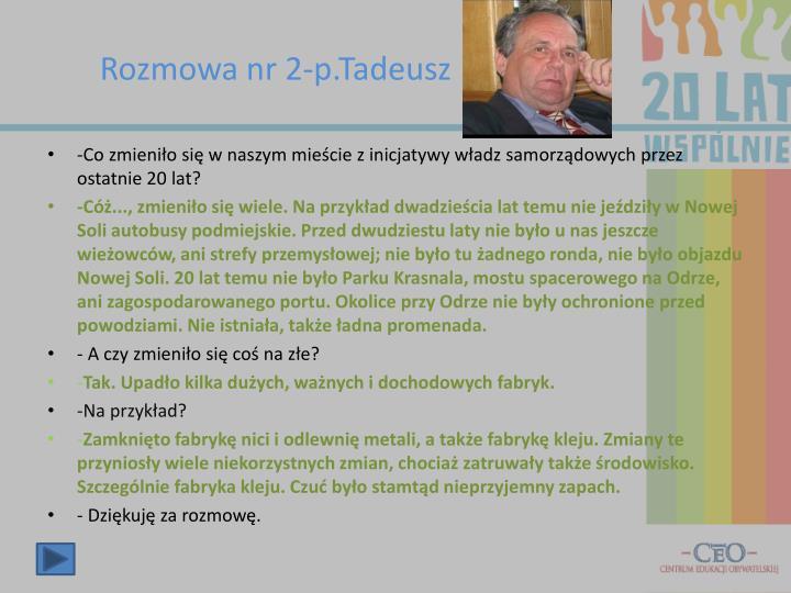 Rozmowa nr 2-p.Tadeusz