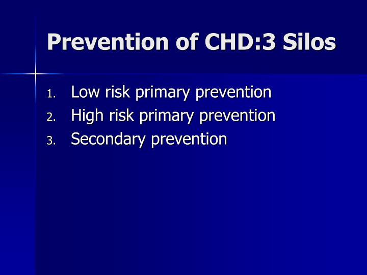 Prevention of CHD:3 Silos
