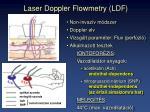 laser doppler flowmetry ldf