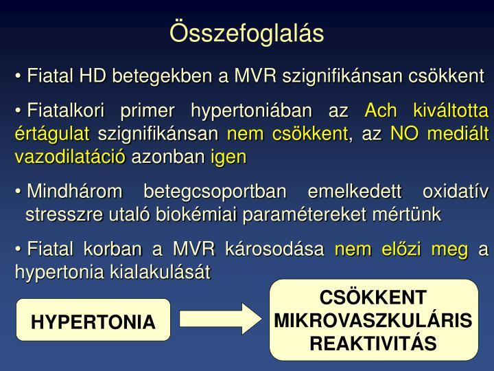 CSÖKKENT MIKROVASZKULÁRIS REAKTIVITÁS