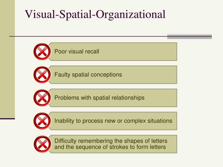 Visual-Spatial-Organizational