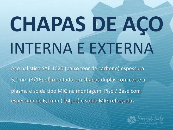 CHAPAS DE AÇO