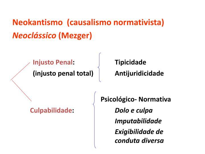 Neokantismo  (causalismo normativista)