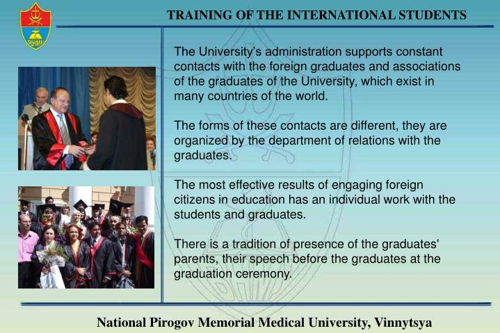 TRAINING OF THE INTERNATIONAL STUDENTS