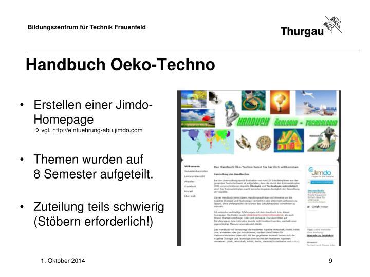 Handbuch Oeko-Techno