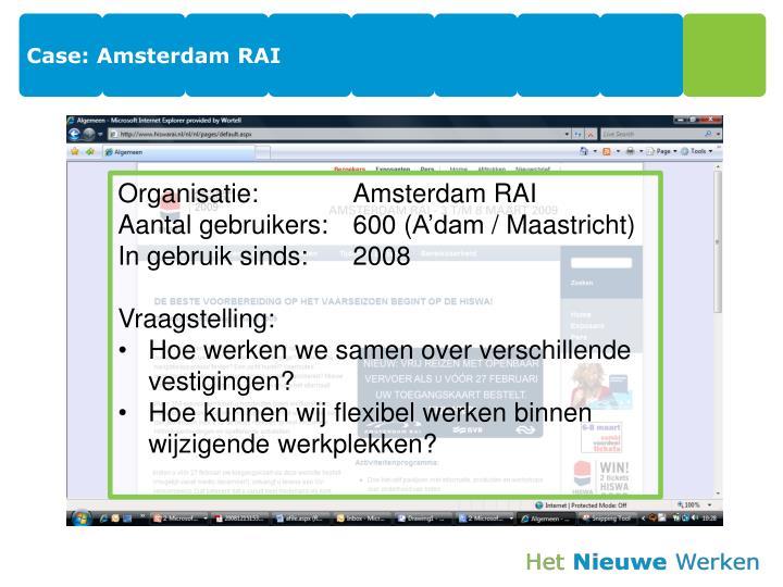 Case: Amsterdam RAI